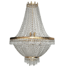 Gold Crystal Draped Chandelier