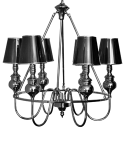 Silver Lamp Shade Chandelier