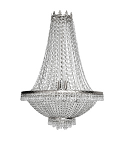 Silver Crystal Draped Chandelier