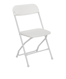 White Samsonite Folding Chair