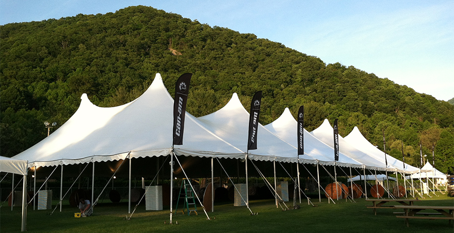 Pole tents are best suited for larger events. Pole tents contain poles that travel down the center of the tent and around the perimeter. : center pole tent - memphite.com