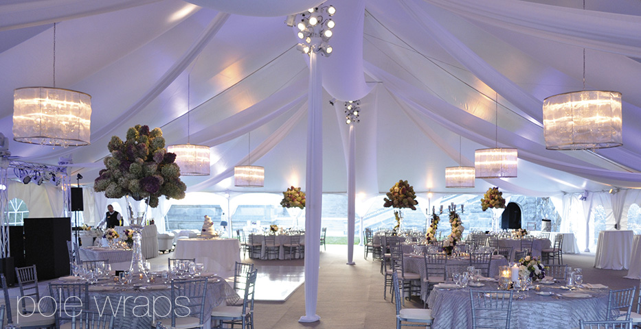 Tent options include specialized tent liners and a variety of draping choices. Specialized made-to-order doors and guttering systems are available as well. & Party Rentals: Your Premier Event and Party Rental Source